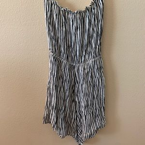 H&M Verticle Striped Romper NWT